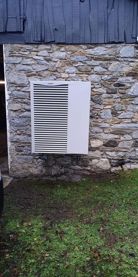 Installation de Pompe à chaleur Air/ Eau VAILLANT