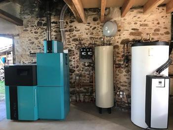Installation Chaudière à granulés ZAGEL HELD et Chauffe eau solaire VAILLANT