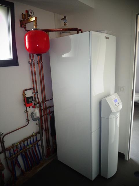 Pompe à chaleur Eau glycolée Eau-VAILLANT VWS63 2 Projet Neuf