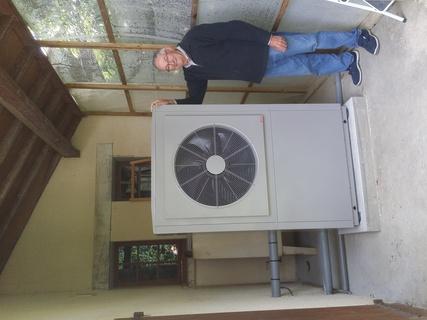 Rénovation - Pompe à chaleur Air Eau - AUER HRC 20 exterieur