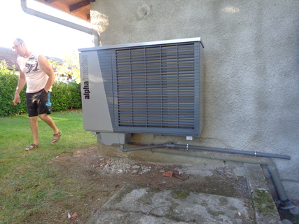 Rénovation - Pompe à chaleur Air Eau- ALPHA INNOTEC LWD 90A exterieur
