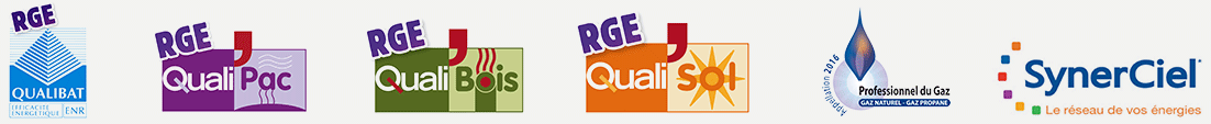 QualiBat - QualiPac - QUaliBois - QualiSOl - Professionnels du Gaz - SynerCiel